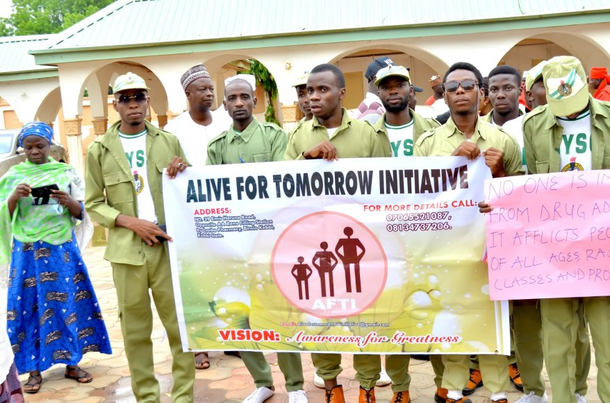 NYSC MEMBERS at Alive for Tomorrow Initiative event