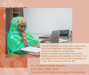 Dr Zainab Shinkafi-Bagudu's Active involvement in the fight against GBV truly means hope for safety for the Nigerian woman